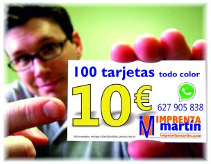 publicidad tarjetas 10€